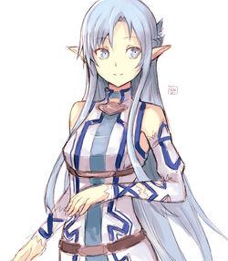 Asuna fairy blue sword art online by hirokiart-d7fswq9