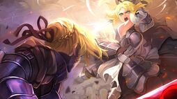 Blondes fatestay night green eyes armor fate unlimited codes anime girls saber lily saber alter fat www.wall321.com 53