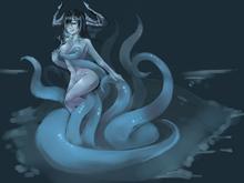 Kraken girl by hunyan-d8kq7oz