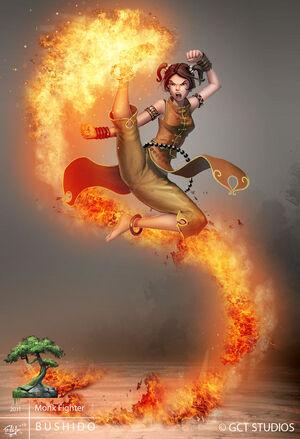 Bushido fire monk by dinmoney-d4lno4f
