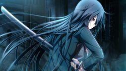 Hatsumi draws her sword
