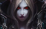 World of warcraft wow sylvanas windrunner wallpaper background blizzard online mmo