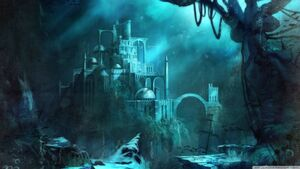 The fallen city of atlantis