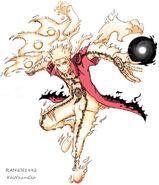 Naruto bijuu chakra mode by raiken1992-d45s2r6