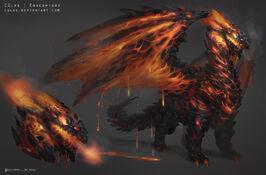 Lava dragon by cglas-d87lfql