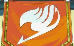 Fairy tail jel zászló