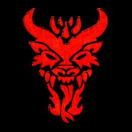 Red Dragons Symbol