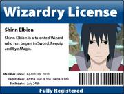 Shinn's License