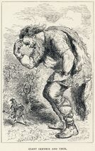Louis Huard - Giant Skrymir and Thor
