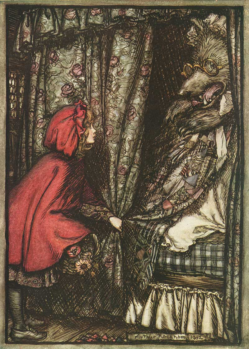 Little red riding hood fairytale wiki fandom powered by wikia arthur rackham little red riding hood buycottarizona