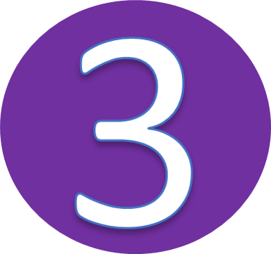 This Logo Is Number 3 On Purple Circle Its A Channel Rtc Tv