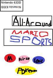 All around mario sports boxart