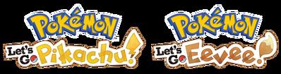 Logo Pokémon Let's Go Pikachu y Pokémon Let's Go Eevee