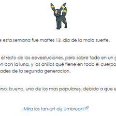 Umbreon, semana 2 de enero