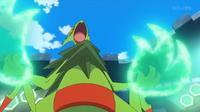 Mega-Sceptile usando garra dragón