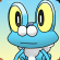 Cara de froakie 3D by Muffin~