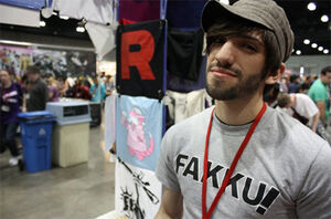 Jacob Grady Anime Expo Booth