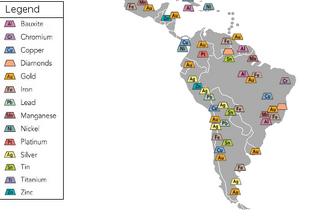 South America Mining Map