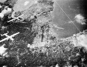 Rabaul under air attack