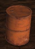 Barrel full of junk
