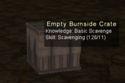 Empty Burnside Crate