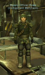 Supply Officer Rowe