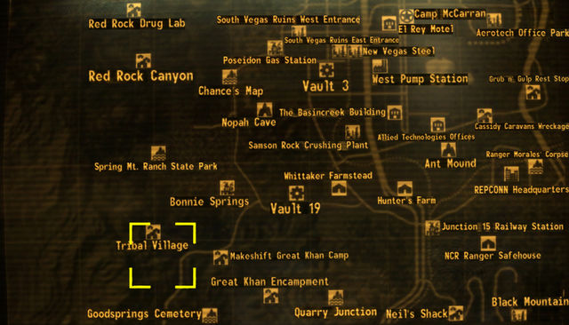 Image - Chance-FNV-Map.jpg | Fallout Myths Wiki | FANDOM powered by ...