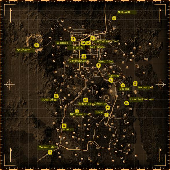 Fallout New vegas d20 map