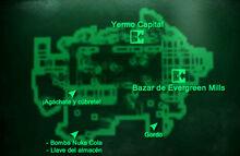 Esp Fundición de Evergreen Mills Mapa Loc