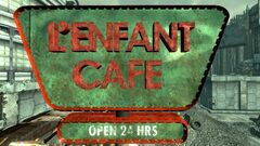FO3 L'enfant Café sign
