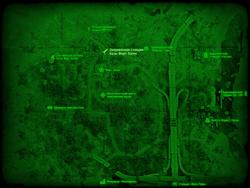 FO4 Заправочная станция базы Форт-Хаген (карта мира)