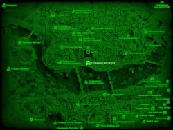 FO4 Развалины института (карта мира)
