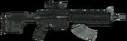 Marksman carbine blown up