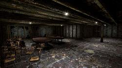 Searchlight church basement