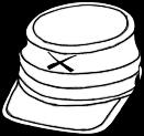 Confederate hat icon