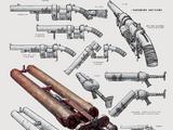 Triple-barrel handmade shotgun