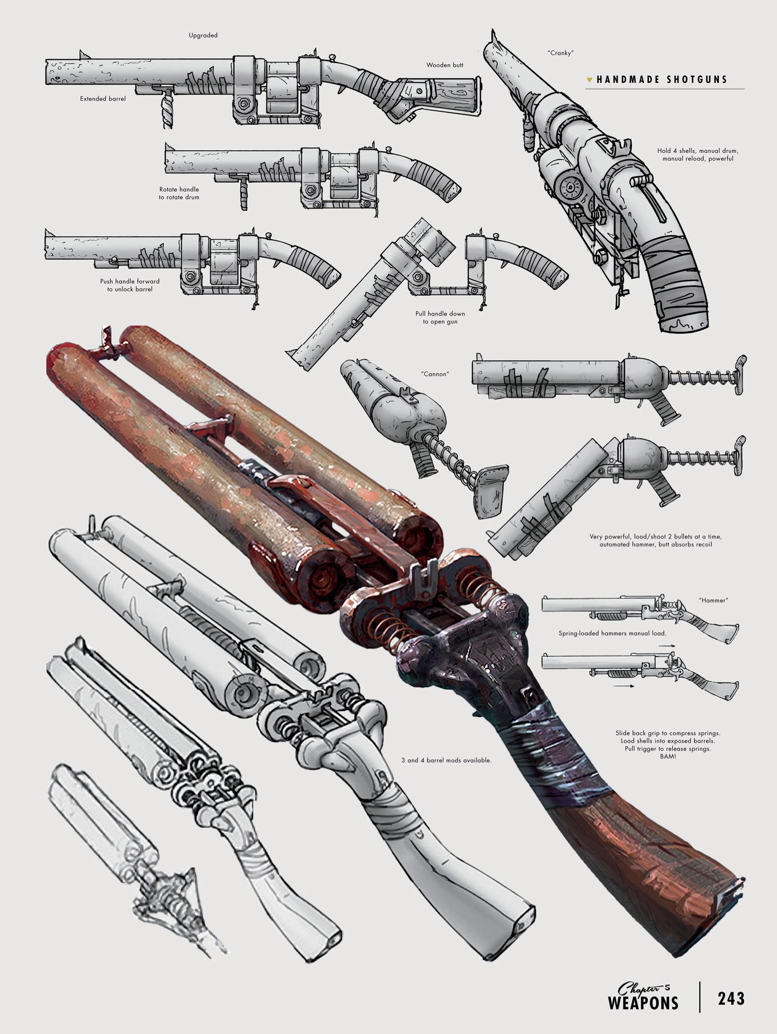 Fo4 shotguns concept art