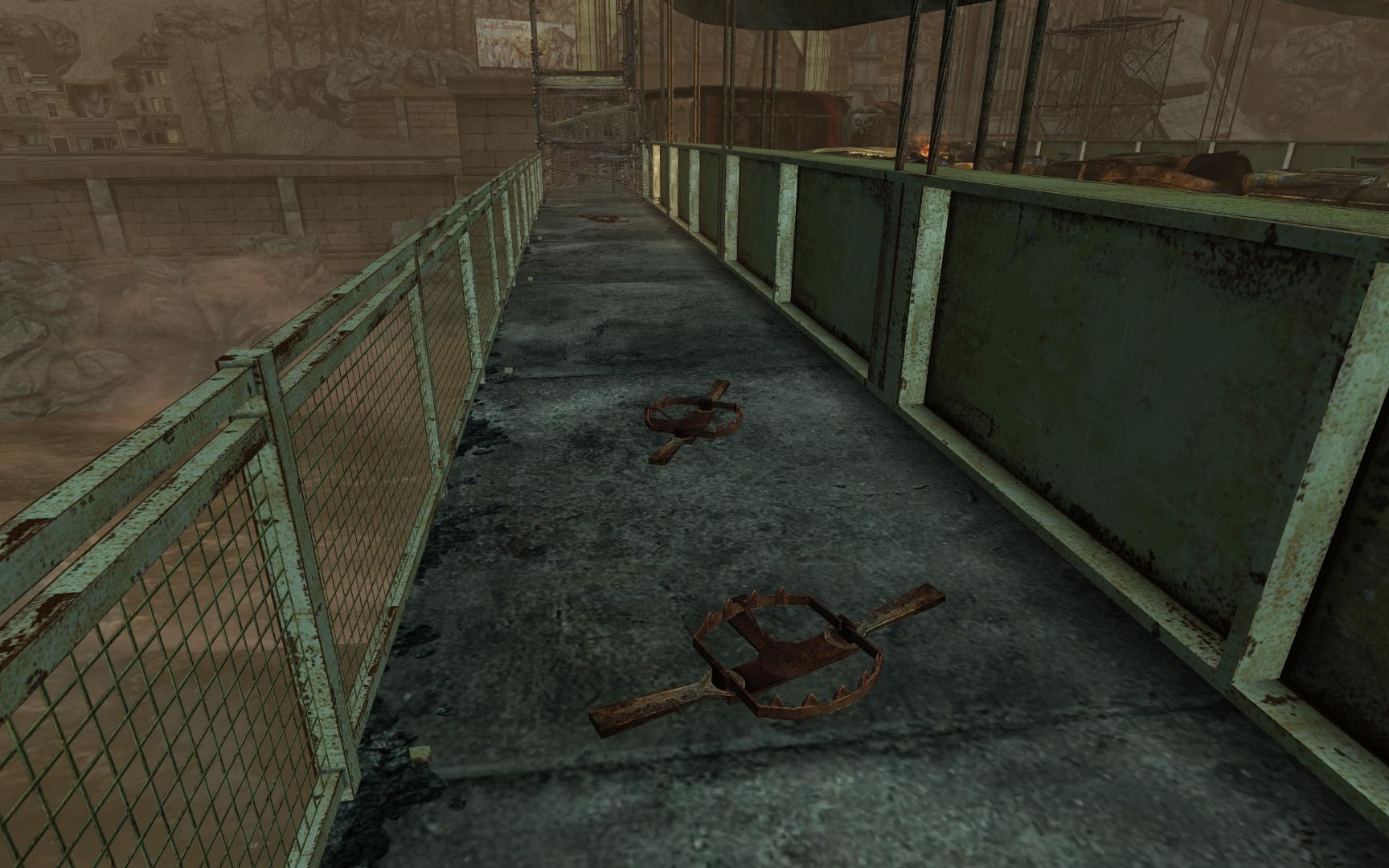 The Pitt Bridge bear traps
