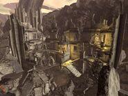 Остатки здания, являющегося Базой Меченых