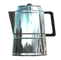 Untarnished coffee pot