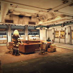 The bunker's command wing