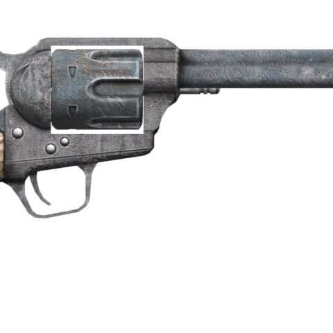 .357 Magnum revolver with the long barrel modification