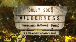 Dolly Sods Wilderness sign