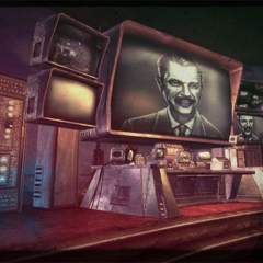 Prototype Mr. House in the games ending.
