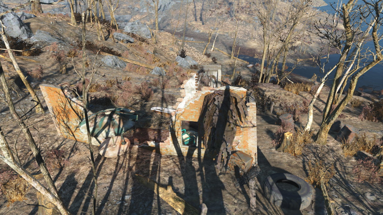 FO4 Ruined house near Wicked Shipping Fleet Lockup