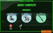 FoS Return to Vault 333 reward