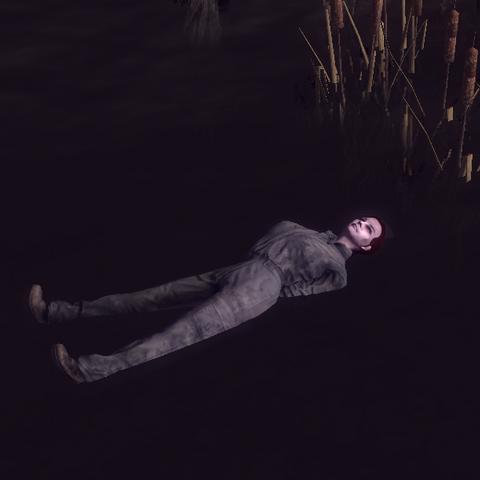 Тіло Мойри на Святому болоті, яке з'явилося під час галюцинацій у Подорожнього