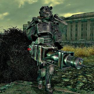 A Paladin patrols outside the Citadel