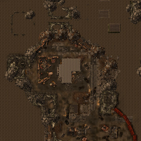 South Vegas ruins map