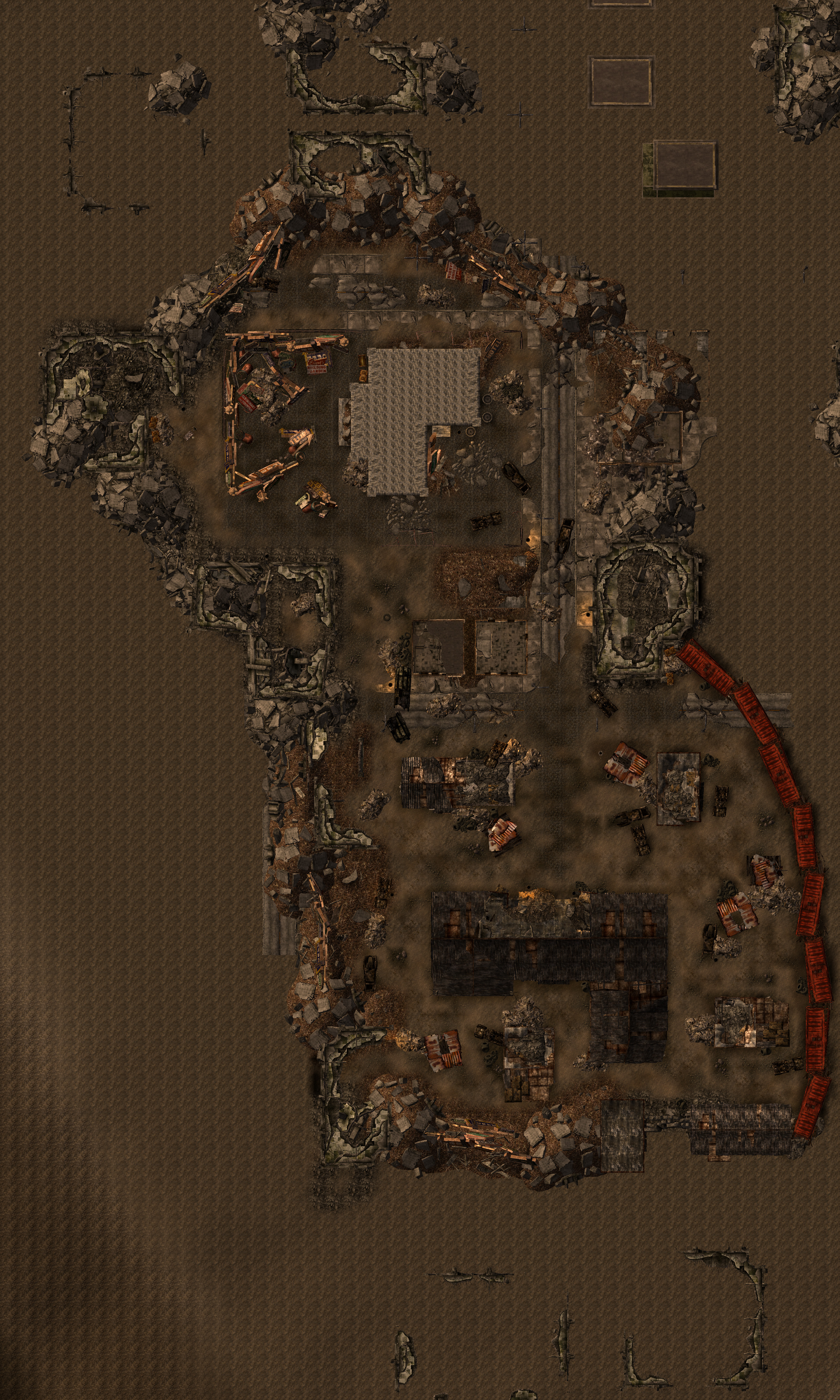 Fallout New Vegas Map Wiki Fandom Powered By Wikia Ps4 Akibaamp039s Beat Reg 2 South Ruins Edit